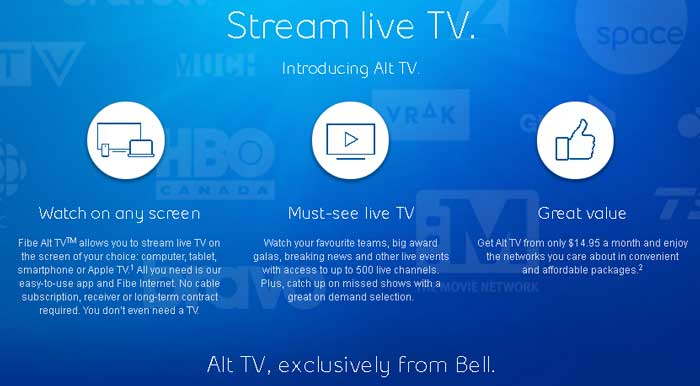 Alt TV, Canada - Watch Online, On-Demand | No TV Subsciption Needed