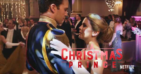a christmas prince proposal scene